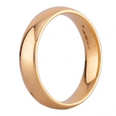 Second Hand 18ct Yellow Gold 4mm Court Shaped Plain Wedding Ring