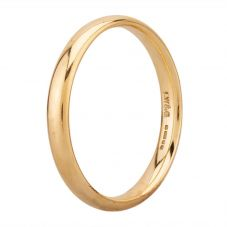 Second Hand 9ct Yellow Gold Court Shaped 3.5mm Wedding Ring