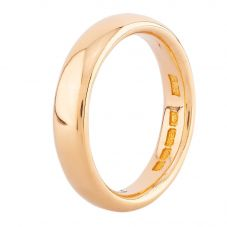 Second Hand 22ct Yellow Gold Court Shaped 4mm Wedding Ring