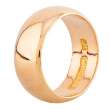 Second Hand 22ct Yellow Gold D-Shaped 8mm Wedding Ring