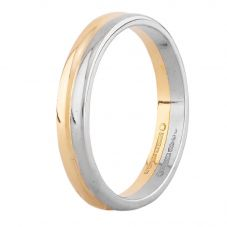 Second Hand 18ct Two Colour Gold 3mm Wedding Ring