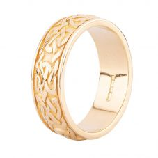 Second Hand 9ct Yellow Gold Celtic Patterned Wedding Ring