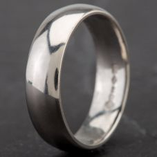 Second Hand Platinum 6mm D-Shape Wedding Ring 4187957