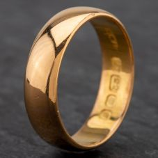 Second Hand 22ct Gold 5mm D-Shape Wedding Ring 4187996