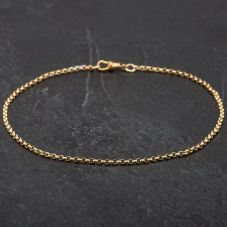 Second Hand 9ct Yellow Gold Belcher Anklet 4188962