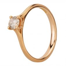 Second Hand 18ct Rose Gold 0.33ct Diamond Solitaire Ring