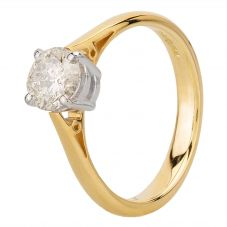 Second Hand 18ct Yellow Gold 1.01ct Diamond Solitaire Ring