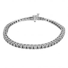 Second Hand 9ct White Gold 7 Inch Diamond Tennis Bracelet