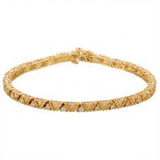 "Second Hand 14ct Yellow Gold 7.5"" Diamond Tennis Bracelet GMC(120/05/01)"