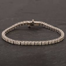 Second Hand 14ct White Gold Diamond Tennis Bracelet