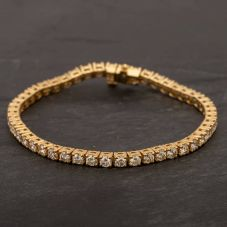 Second Hand 14ct Yellow Gold Diamond Tennis Bracelet