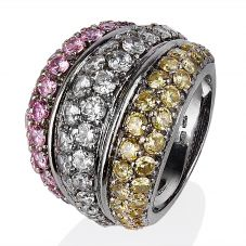 Second Hand 14ct White Gold Stone Set Ring 4309010