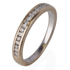Second Hand 14ct White Gold Channel Set Half Eternity Ring