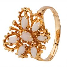 Second Hand 9ct Yellow Gold Opal Butterfly Ring 4309125