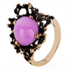 Second Hand 9ct Yellow Gold Pink Star Sapphire Ring 4309192