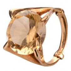 Second Hand 9ct Yellow Gold Citrine Cocktail Ring
