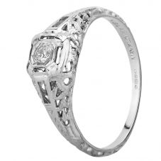 Second Hand 18ct White Gold Diamond Solitaire Ring GMC(104/3/8)