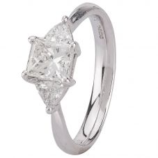 Second Hand 18ct White Gold Diamond Three Stone Ring