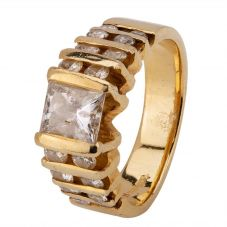 Second Hand 14ct Yellow Gold 1.60ct Diamond Ring 4312121
