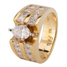 Second Hand 14ct Yellow Gold 2.90ct Diamond Ring