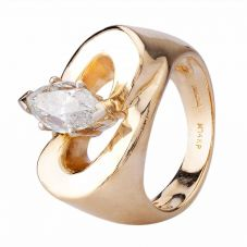 Second Hand 9ct Yellow Gold 1.45ct Marquise Diamond Ring