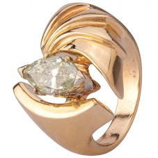 Second Hand 9ct Yellow Gold 1.50ct Marquise Diamond Ring
