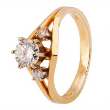 Second Hand 14ct Yellow Gold 0.55ct Diamond Ring 4312135