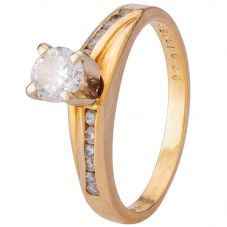 Second Hand Yellow Gold Diamond Ring 4312141
