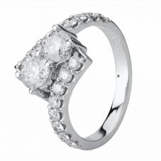 Second Hand 14ct White Gold 1.55ct Diamond Twist Ring