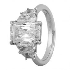 Second Hand Platinum 3.04ct Diamond Five Stone Ring