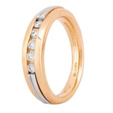 Second Hand 14ct Two Colour Gold Diamond Five Stone Ring