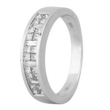 Second Hand 18ct White Gold 0.70ct Diamond Half Eternity Ring