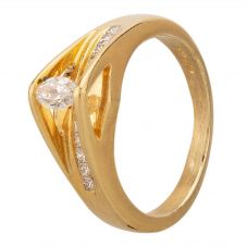 Second Hand 14ct Yellow Gold Marquise Cut Diamond Ring GMC(104/1/11)