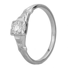 Second Hand 18ct White Gold 0.30ct Diamond Solitaire Ring GMC(104/3/7)