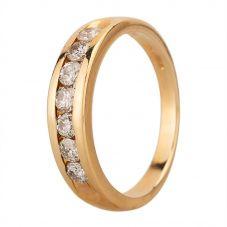 Second Hand 14ct Yellow Gold 0.45ct Diamond Half Eternity Ring GMC(105/3/11)