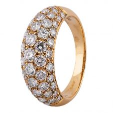 Second Hand 18ct Yellow Gold 2.00ct Pavé Diamond Ring 4312467
