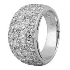 Second Hand Platinum 2.00ct Pave Diamond Ring