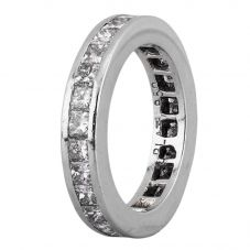 Second Hand Platinum 2.25ct Princess Diamond Full Eternity Ring