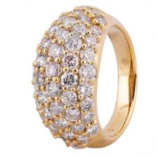 Second Hand 18ct Yellow Gold 2.50ct Pavé Diamond Ring 4312494