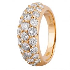 Second Hand 18ct Yellow Gold 2.30ct Pavé Diamond Ring 4312505