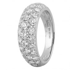 Second Hand Platinum 2.00ct Pave Diamond Ring