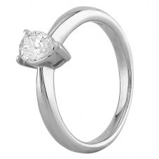 Second Hand Platinum 0.35ct Pear Shaped Diamond Solitaire Ring