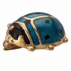 Second Hand 14ct Yellow Gold Blue Enamel Ladybird Brooch