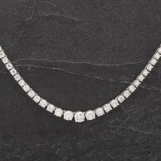 "Second Hand 20"" Diamond Graduated Tennis Necklace 4314269"