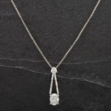 Second Hand Platinum Brilliant Cut Diamond Pendant 4314433
