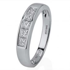 Second Hand 18ct White Gold Five Stone Diamond Ring
