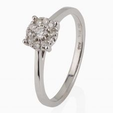 Second Hand 14ct White Gold Diamond Cluster Ring 4328047