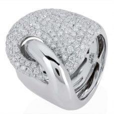 Second Hand 14ct White Gold Diamond Cocktail Ring
