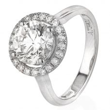 Second Hand Platinum 2.53ct Diamond Soliaire Ring