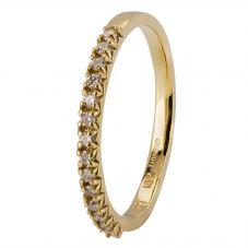Second Hand 18ct Yellow Gold Diamond Half Eternity Ring